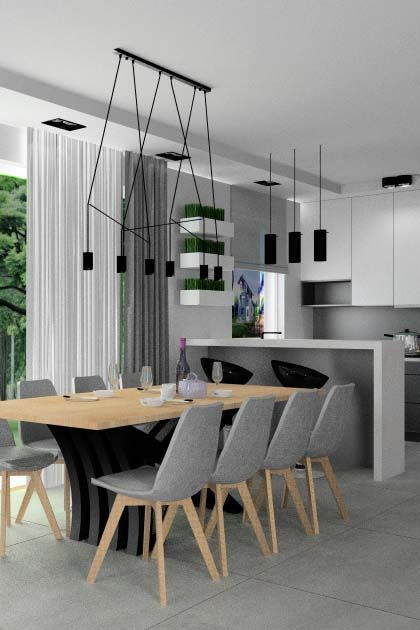 projekt mieszkania nowoczesnego