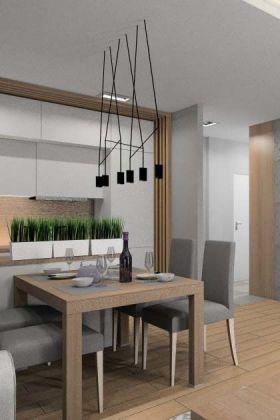 Salon z kuchnią i holem
