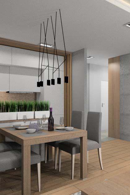 Aranżacje salonu z kuchnią i hol
