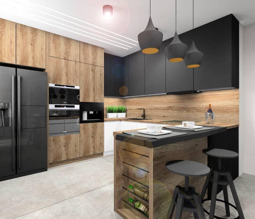 Projektowanie wnętrza kuchni: układy funkcjonalne mebli kuchennych