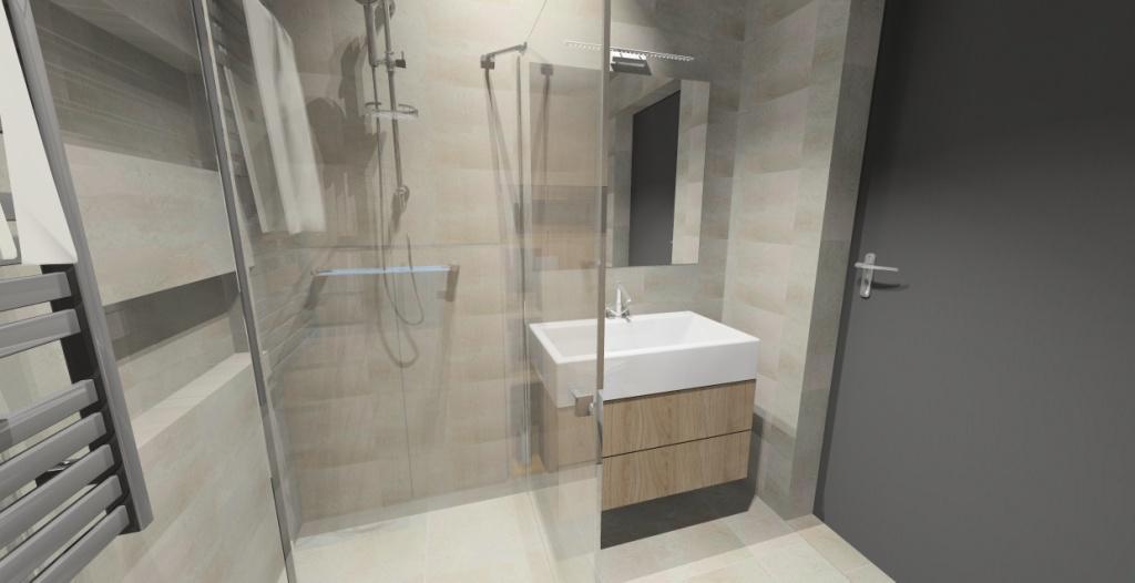 łazienka Beton I Drewno