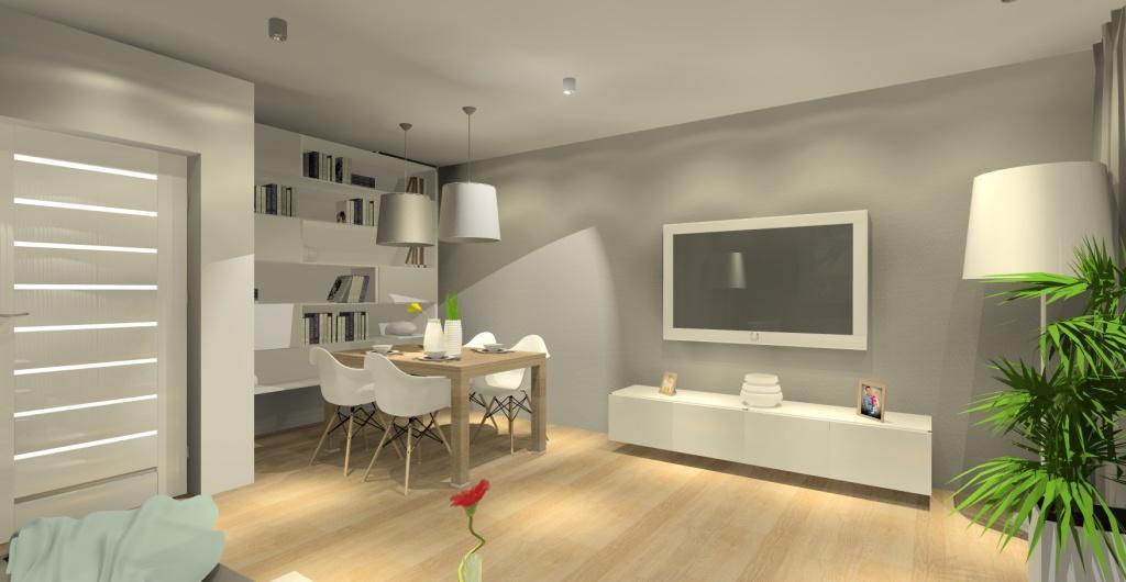 Salon, projekt wnętrza