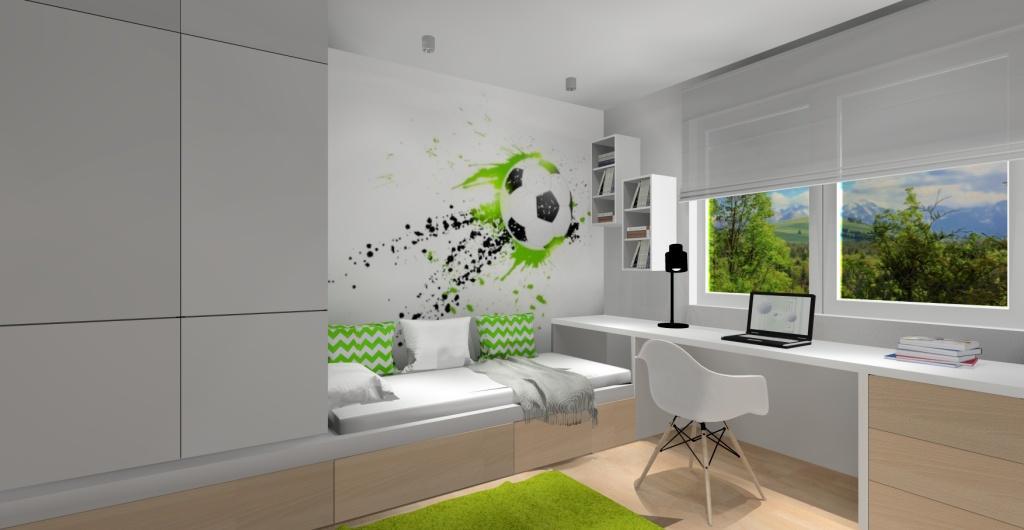 Projekt pokoju dla chłopca, pokój dla chłopca, nowoczesny pokój dla dziecka