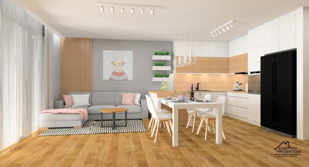 Jak urządzić salon i kuchnie w stylu skandynawskim: zdjęcia, aranżacja
