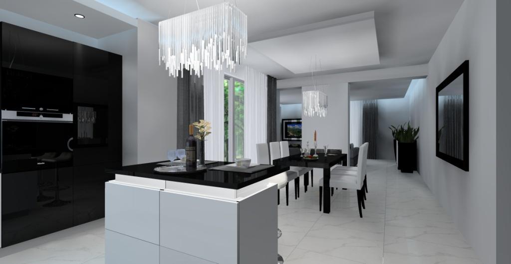Projekt Salonu Z Kuchnią I Jadalnią Aranżacja I Urządzenie
