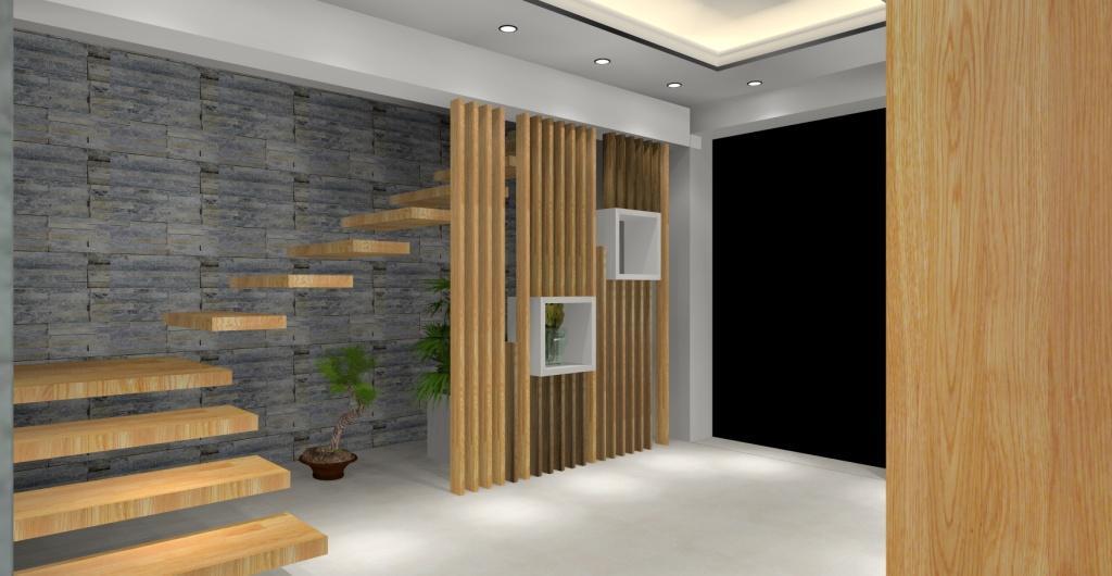 projekt przedpokoju, styl nowoczesny, projekt  hollu, przedpokój w kolorze biały, szary drewno