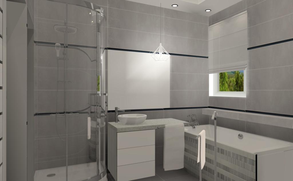 aranżacja łazienki, projekt łazienki, aranżacja łazienki z wanną