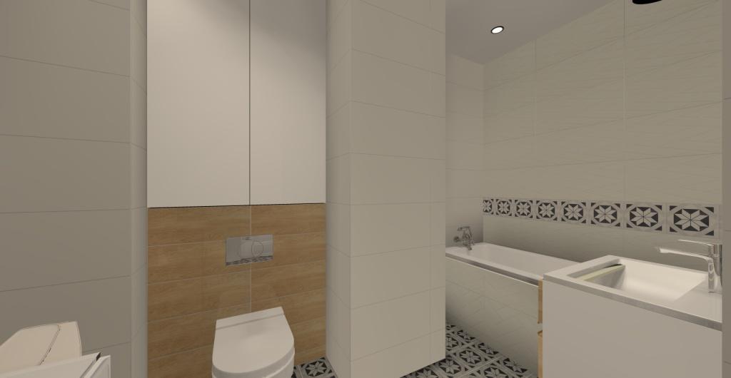 aranżacja małej łazienki w stylu skandynawskim z wanną