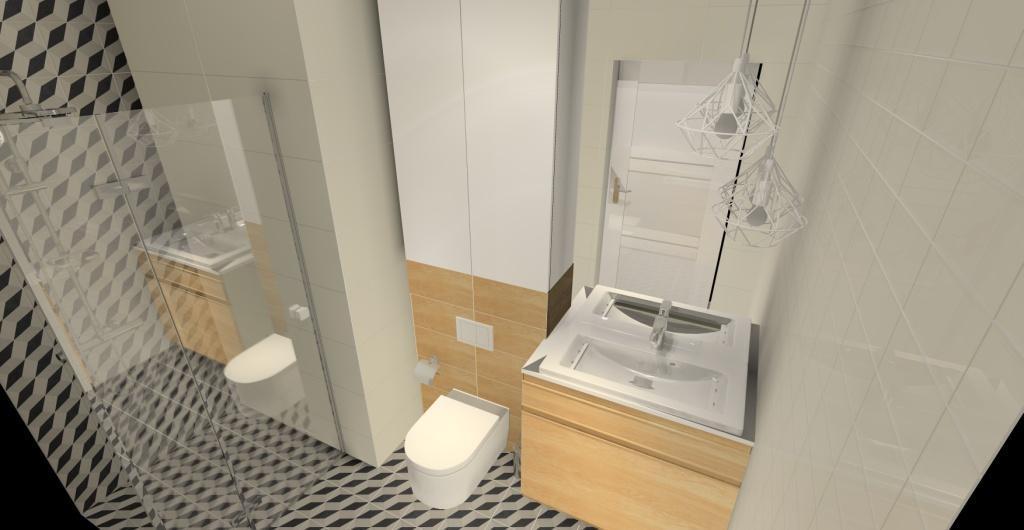 aranżacja łazienki z prysznicem, łazienka w stylu skandynawskim