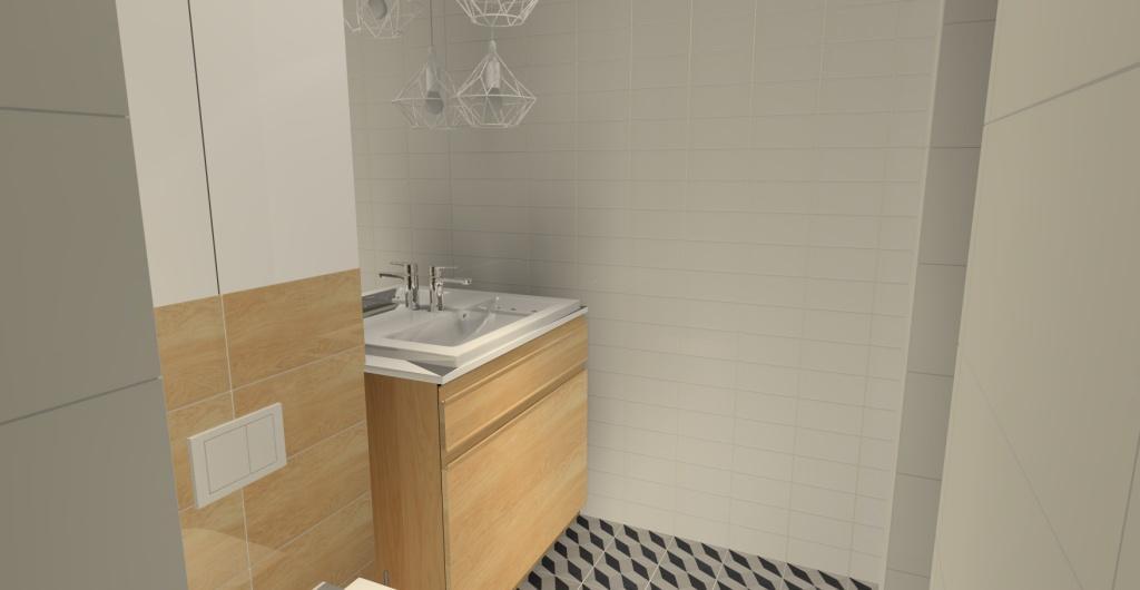 Aranżacja łazienki z drewnem, łązienka styl skandynawski, łazienka z prysznicem