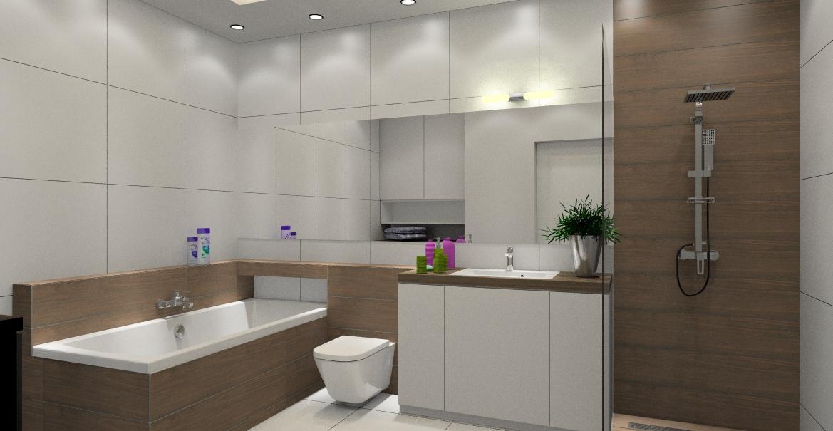 Aranżacje łazienki Z Wanną I Prysznicem