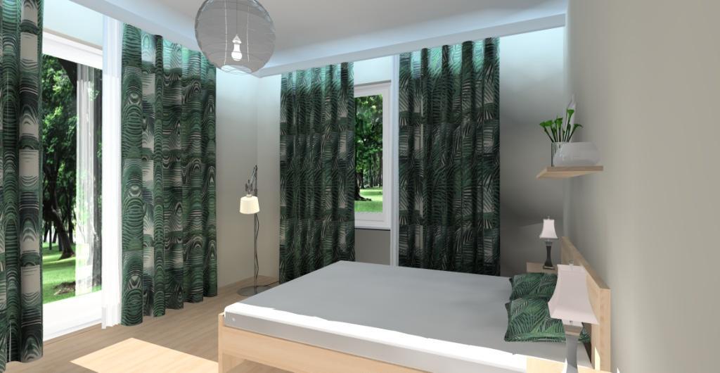 Sypialnia, projekt wnętrza nowoczesnej sypialni