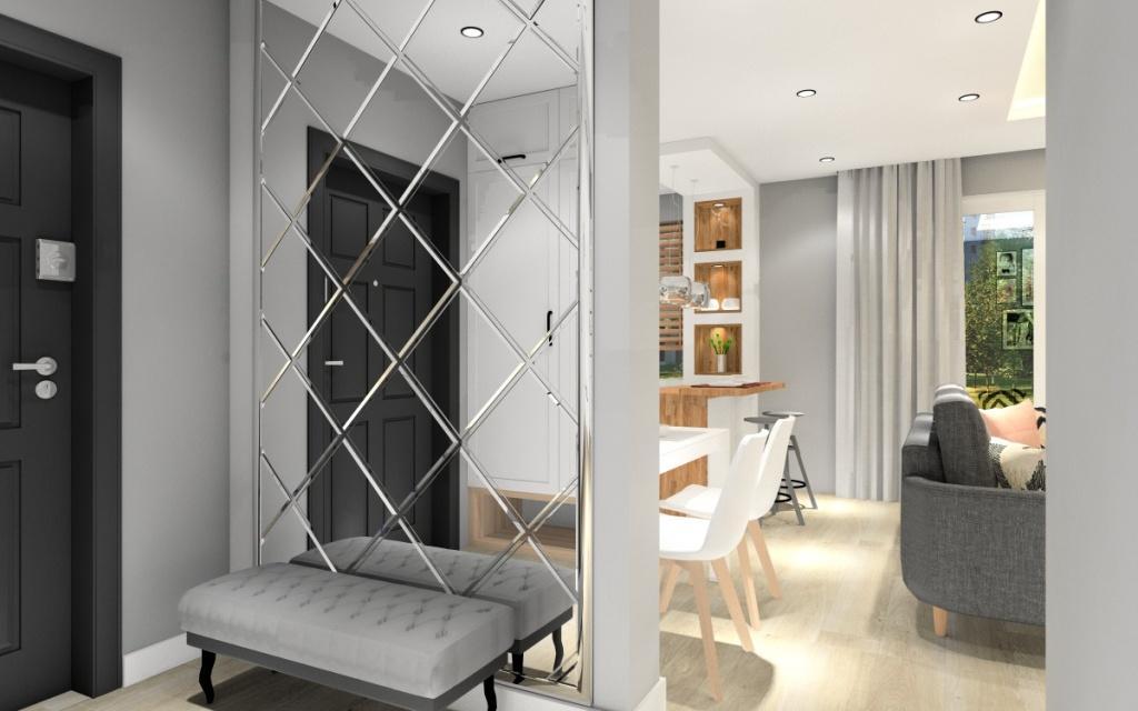 Salon z jadalnią, aneksem kuchennym i przedpokojem - jaka podłoga? , jednolita podłoga w salonie, kuchni, jadalni i przedpokoju
