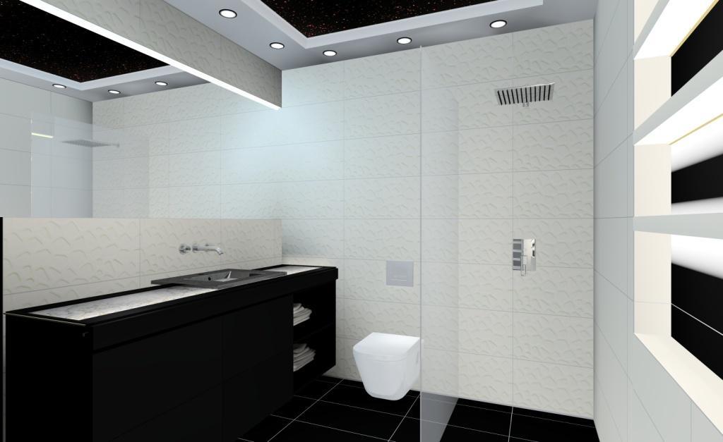 Aranżacja łazienki W Stylu Nowoczesnym