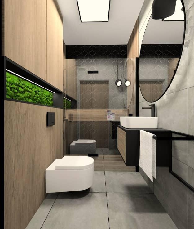 Mała łazienka. Projekt nowoczesnej łazienki