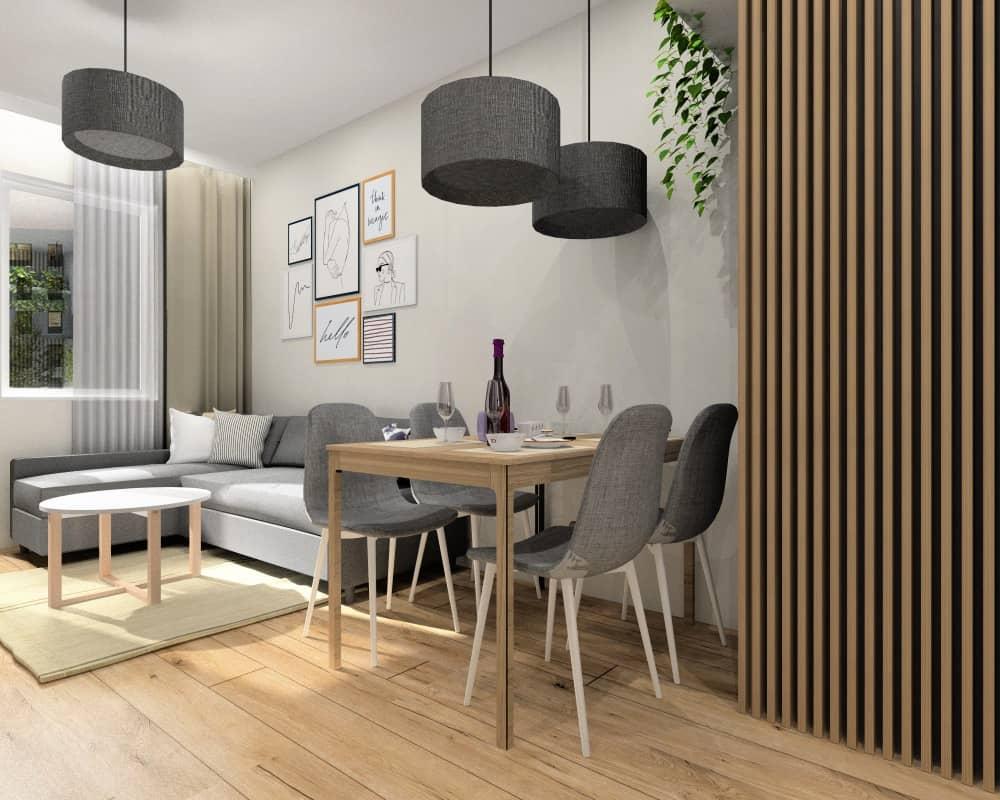 Mieszkanie 35m2. Projekt i nowoczesna aranżacja wnętrz