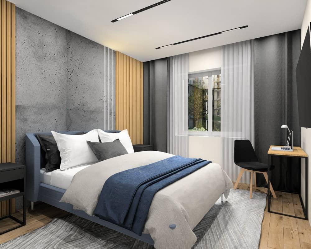 Sypialnia 12 m2. Piękny projekt i aranżacja
