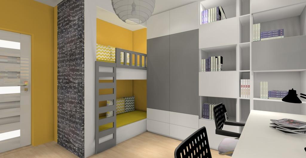 Nowoczesny pokój dla nastolatków, pokój dla nastolatków
