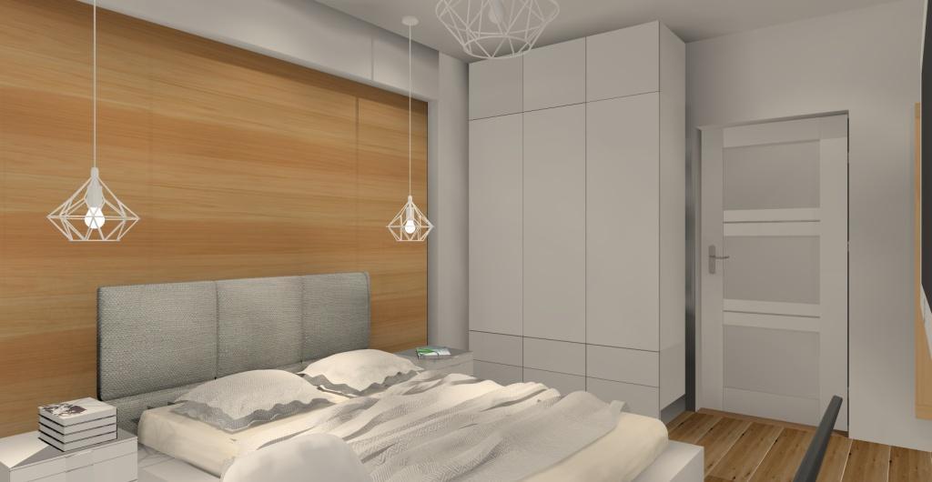aranżacja wnętrza sypialni, sypialnia styl skandynawski