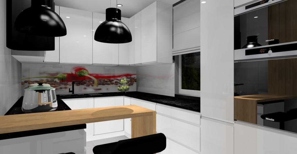 aranżacja kuchni, kuchnia biała