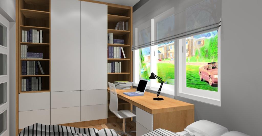 projekt pokoju dla chłopca, aranżacja pokoju dla nastolatka