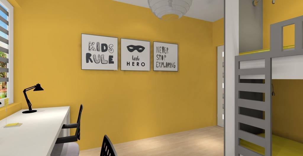 projekt pokoju dla dzieci,