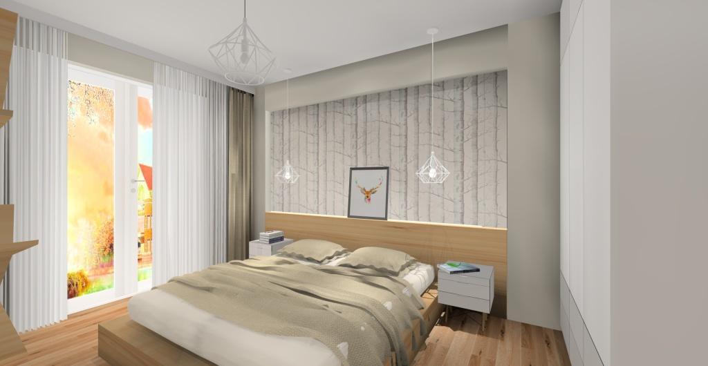 https://e-wystroj-wnetrz.pl/img/cms/3-sypialnia/201806061221.jpgprojekt sypialni, styl skandynawski, drewno, szary, biały, tapeta motyw natury