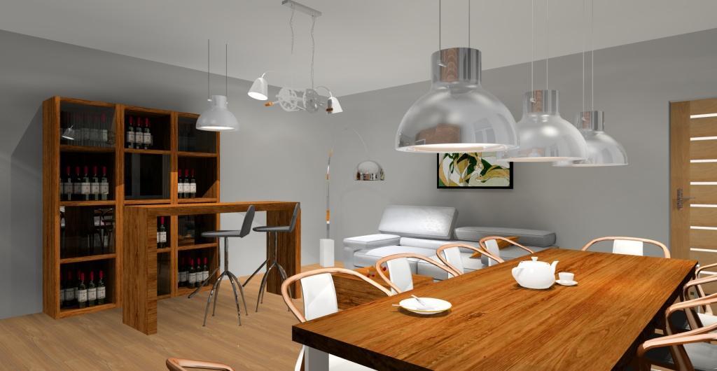 aranżacja salonu w stylu loftowym