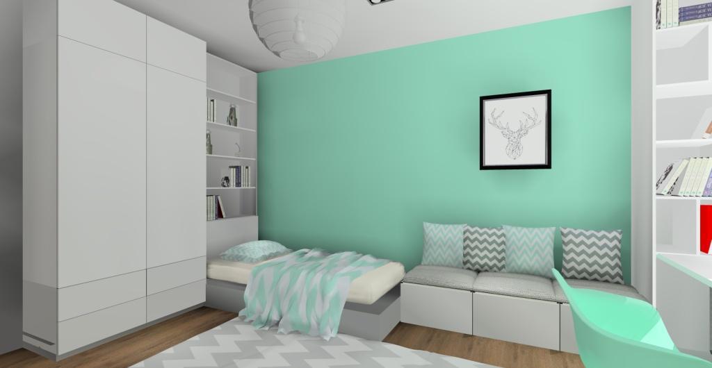 Pokój dla nastolatki - aranżacja, pokój styl skandynawski
