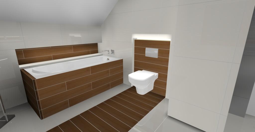 łazienka w skosach, łazienka na poddaszu nowoczesna