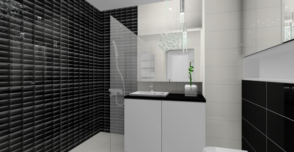 Aranżacja łazienki, łazienka urządzona w stylu glamour, nowoczesny