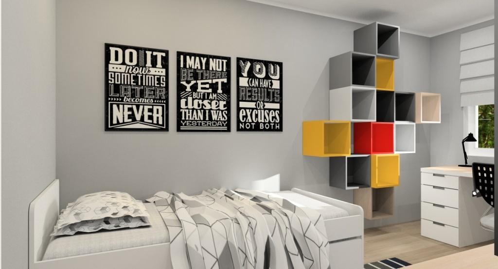 Dodatki w pokoju dla nastolatka , nowoczesne plakaty