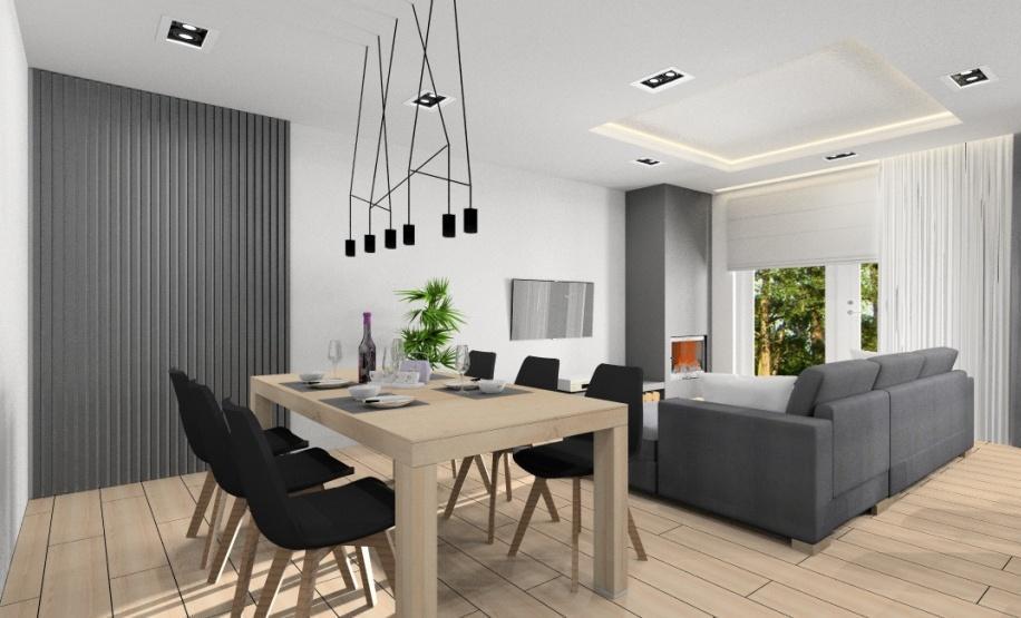 Jak urządzić nowocześnie salon z kuchnią? aranżacja wnętrza, zdjęcia