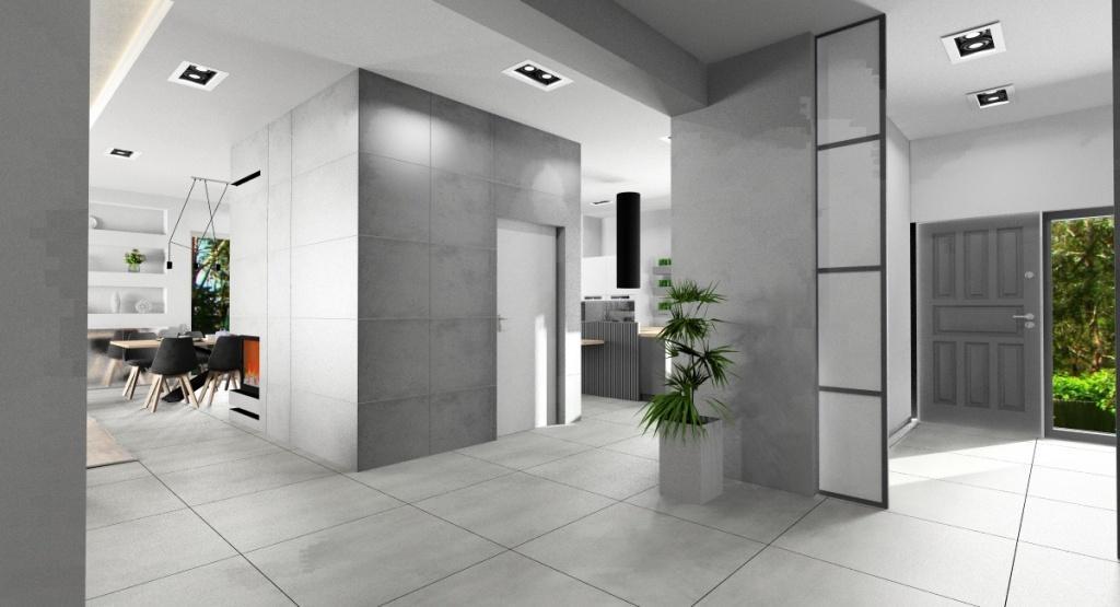 Projekty wnętrz: Aranżacja domu 255 m2, styl nowoczesny