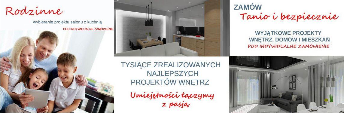 Projekt salon z kuchnią
