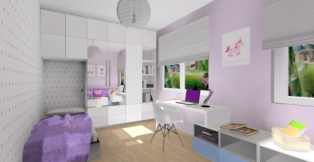 pokój dla dziewczynki, popkój dla dziewczynki biały, pokój dla dziewczynki różowy