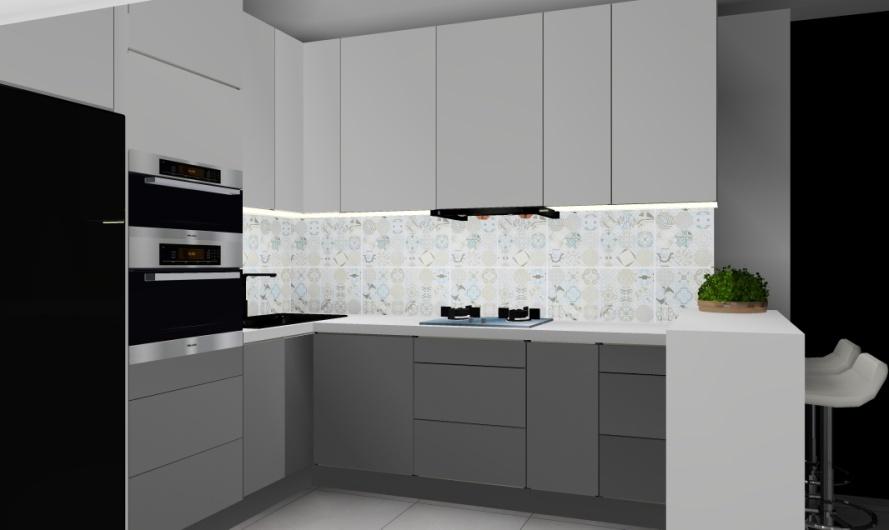mała kuchnia styl nowoczesnym, kuchnia w stylu nowoczesnym, projekt kuchni w stylu nowoczesnym, nowoczesne wnętrze