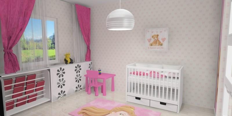 Pokój niemowlaka, łóżeczko