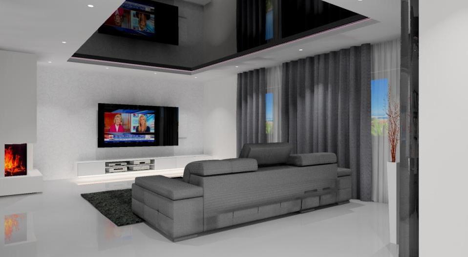 projekt mieszkania, nowoczesny minimalistyczny