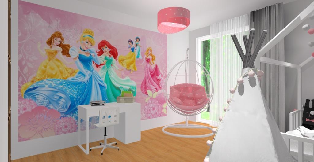 Aranżacja pokoju dla dziewczynki – biel, róż, szarość