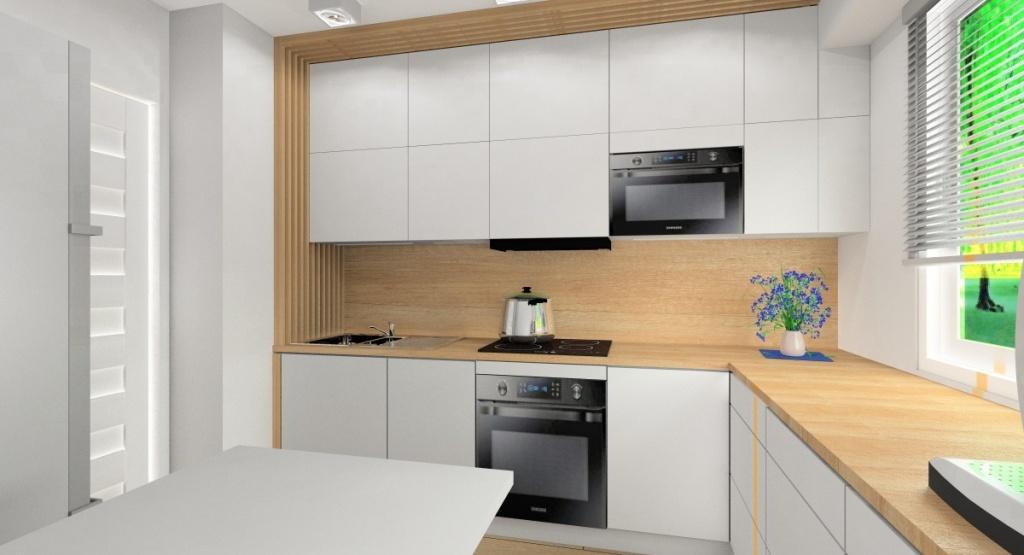 Optycznie powiększona przestrzeń w małym mieszkaniu?, meble jasne, białe
