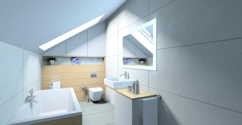 Jak urządzić łazienkę w stylu nowoczesnym? biały, szary, drewno