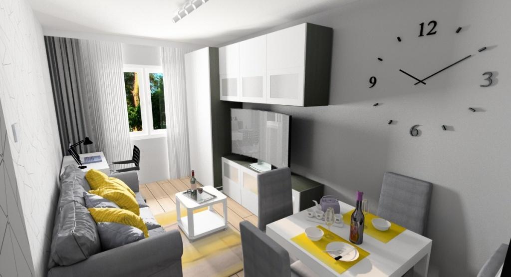 Jak urządzić małe mieszkanie w bloku: wskazówki, białe meble optycznie powiększające mieszkanie