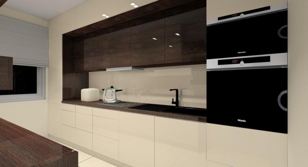 Projekt kuchni, wąska kuchnia