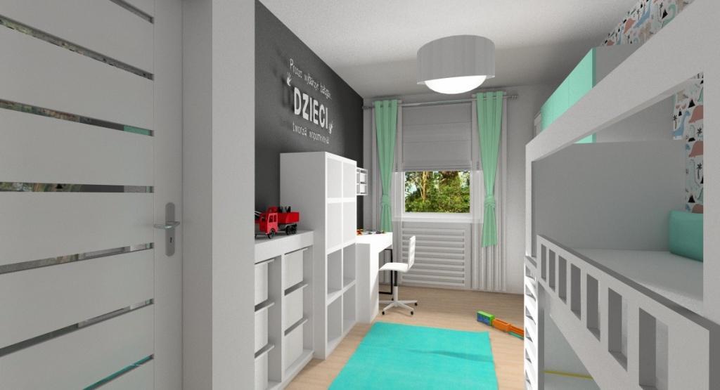 projektowanie i aranżacja pokoju dziecka, meble ikea, trofast, kallax, biurko mickey