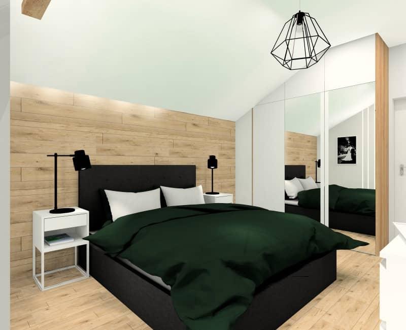 Sypialnia, projekt wnętrza sypialni
