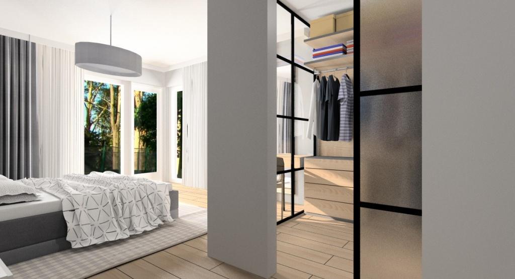 Sypialnia z garderobą, garderoba w sypialni: rozwiązania i pomysły