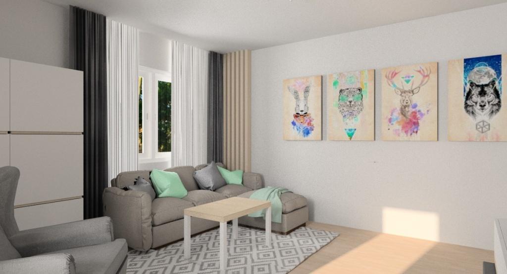 Zdjęcia wnętrza salonu w stylu skandynawskim