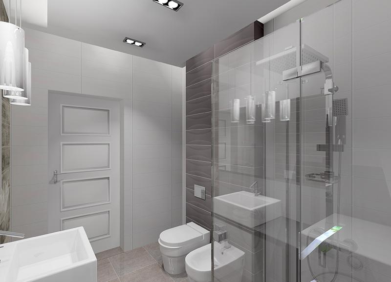 łazienka W Bieli I Graficie