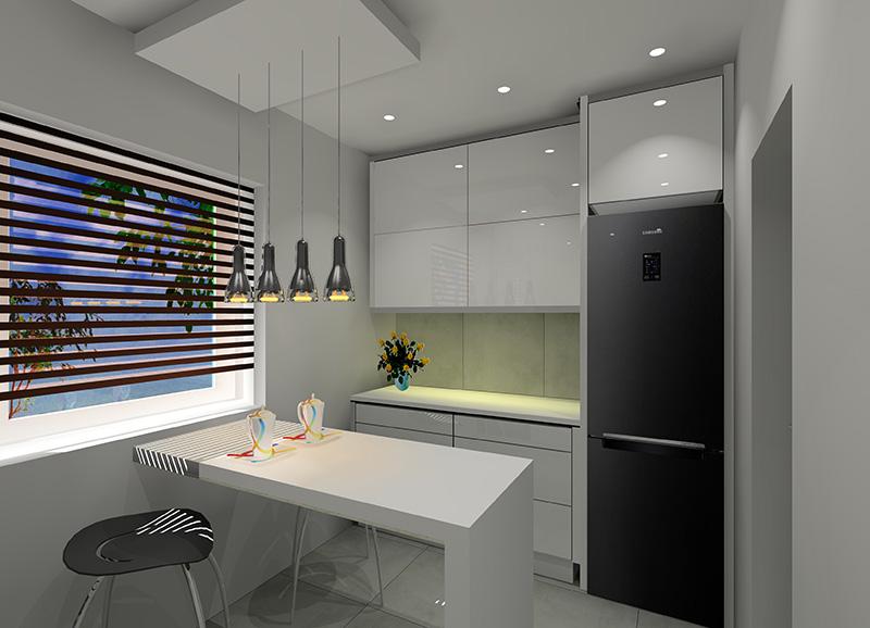 Mała kuchnia w bloku z wielkiej płyty -> Mala Kuchnia W Bloku Z Salonem